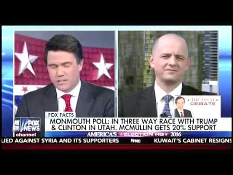 Evan McMullin on Fox News Discusses His Surge In The Polls
