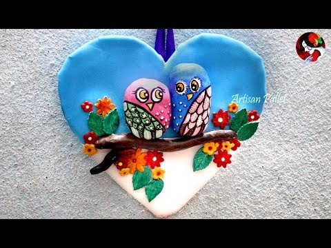 Beautiful Wall Hanging Ideas with clay art  | DIY Wall Hanging owl | wall decoration ideas   at home