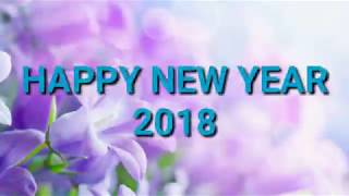 HAPPY NEW YEAR 2018 countdown blue sky world