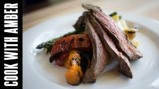 Grilled Flank Steak And Veggies   Cook With Amber