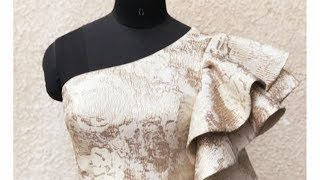 How to draft a One Shoulder Top Pattern with Princess dart | One Shoulder top | Princess dart top