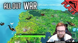 All Out War - Fortnite Gameplay #41 (Fortnite Squad 50v50 StoneMountain64)