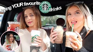 i let my SUBSCRIBERS choose my starbucks drinks for a day! drive thru with me!