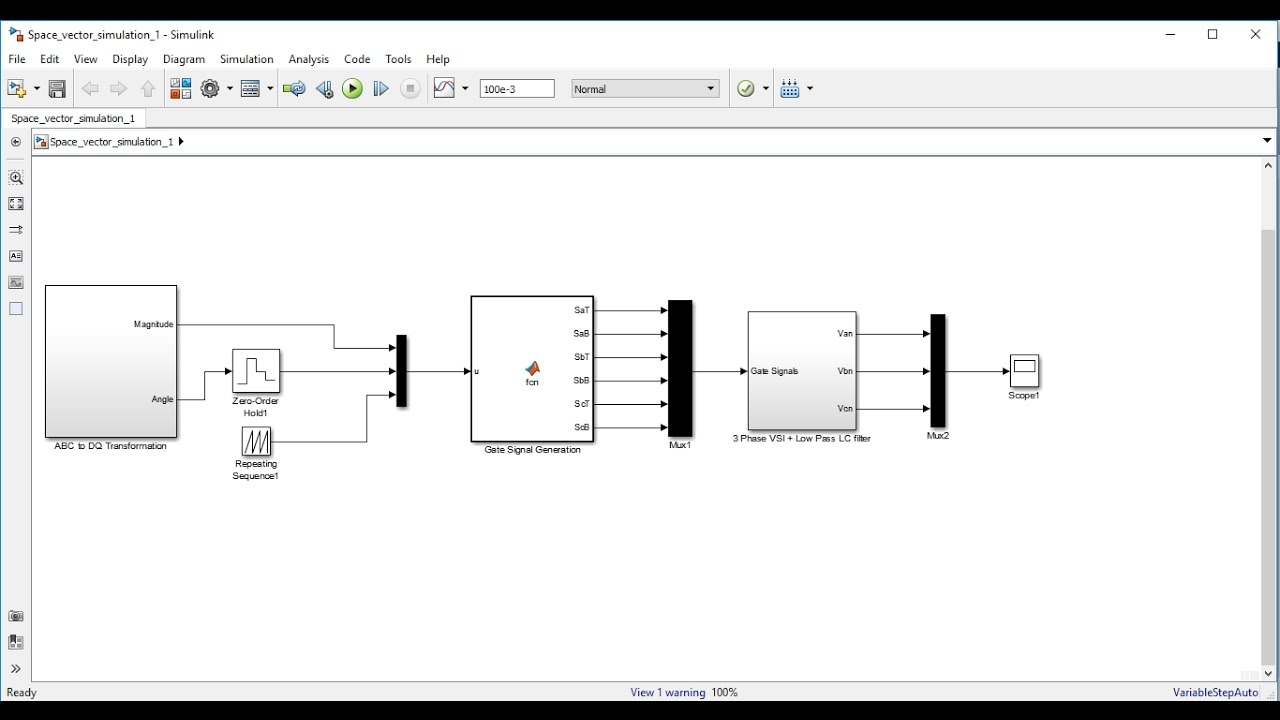 Space Vector Pwm Technique For 3 Phase Vsi In Matlab Simulink Youtube The Pulse Width Modulation Circuit Diagrams From Video