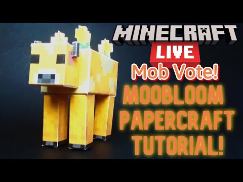 How 2 Make The New 1.17 Moobloom Mob Out Of Paper!