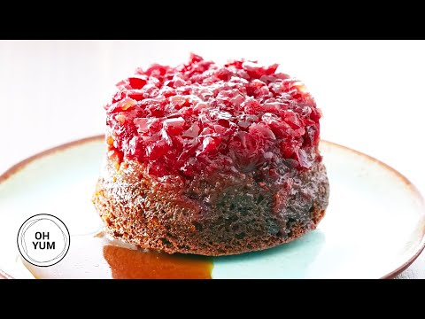 How to Bake Incredible Cranberry Gingerbread Upside Down Cake!