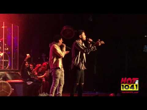 Trey Songz and J.R perform