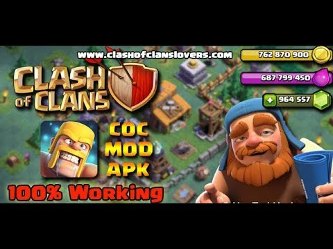CLASH OF CLANS LATEST MOD 10.134.11 | UNLIMITED GEMS AND ELIXERS | NO SURVEY | COC MOD