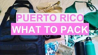 Packing for PUERTO RICO | Tips for travelling light!