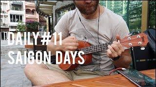 Daily#11 Saigon Life Market Cinema Playing Accordion and Uke in District 1
