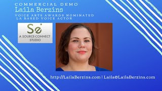 Commercial Voice Over Demo - Laila Berzins