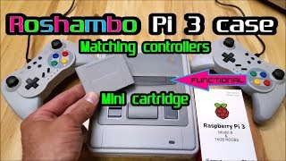 New Roshambo Super Famicom Retro gaming Case for Raspberry Pi 3 & Matching controllers