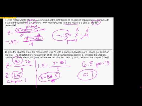 AP Statistics Chapter 2 Test Review Video