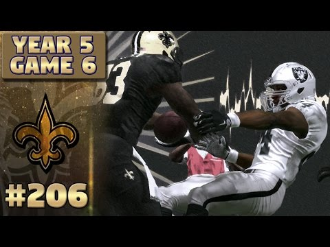 Saints vs Raiders Highlights (S5,G6) | Madden NFL 17 New Orleans Saints Franchise Ep. 206
