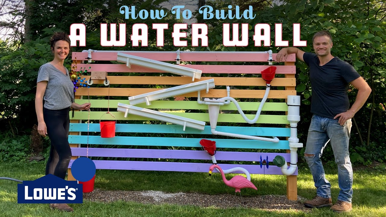 How To Build A Backyard Water Wall Youtube