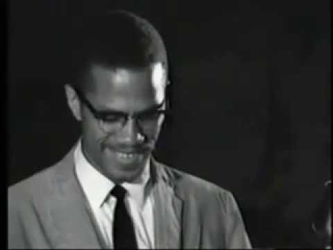 "Famous Malcolm X speech ""Any means necessary"""