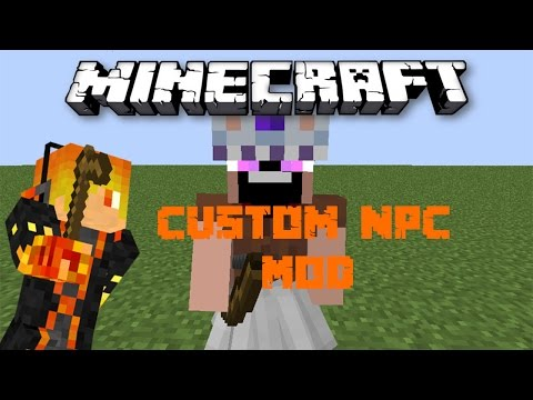 Minecraft Mod Showcase: Custom NPC Mod - Notch mặc váy