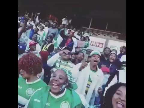 "Bloemfontein Celtics fans sing ""Oe Batla Kae"""