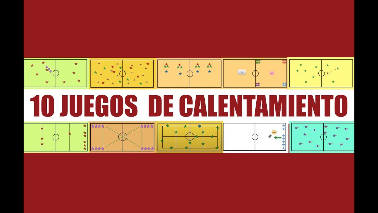 10 JUEGOS DE CALENTAMIENTO | Juegos Educación Física - YouTube