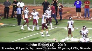 John Emery vs. John Ehret (24 touches, 246 yards) - Destrehan 2019 RB (Georgia commit)