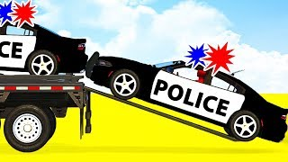LEARN COLOR w Police Cars Transportation   Spiderman Cartoon for Babies Superheroes for Kids