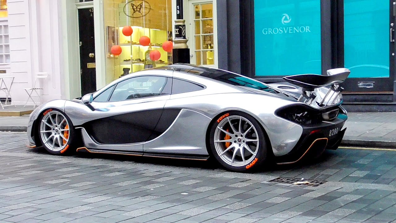 Liquid Silver $2 Million McLaren P1 in Central London!