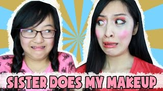 Little sister does my make-up! | Annchirisu
