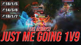 LL Stylish - JUST ME GOING 1V9 (AS ALWAYS) - UNRANKED TO CHALLENGER
