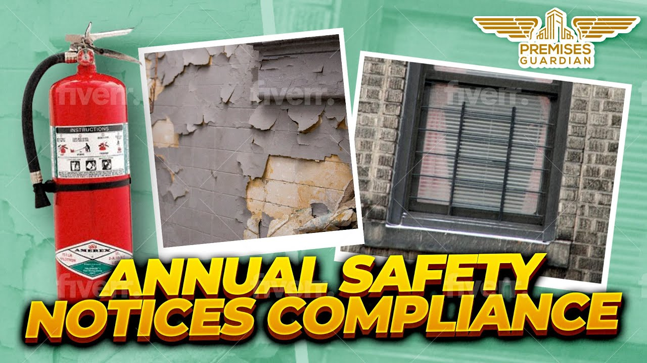 Comply with Annual Safety Notices and avoid penalties