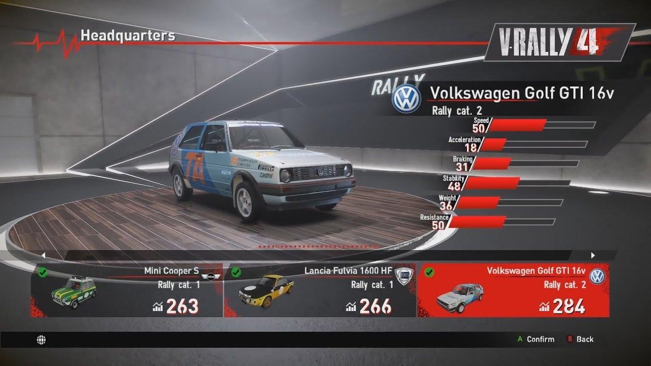 V Rally 4 Cars Showroom Part 1 Historical Rally Youtube