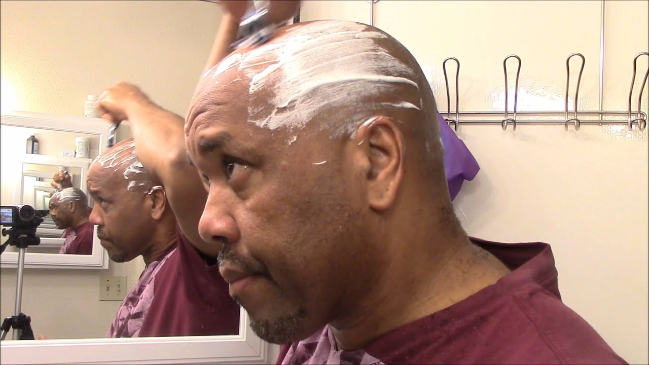 Shaving Bald Head And Face