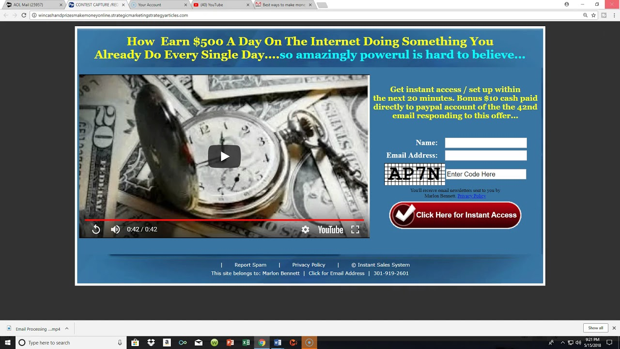 Best ways to make money on the Internet make money online video 1