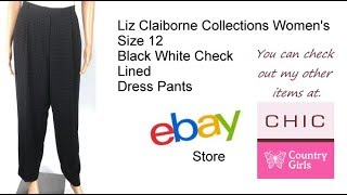 Video Liz Claiborne Collections Women's Size 12 Black White Check Lined Dress Pants download MP3, 3GP, MP4, WEBM, AVI, FLV Juli 2018