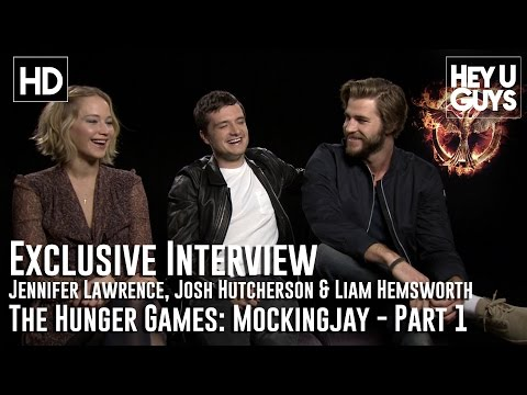 Jennifer Lawrence, Josh Hutcherson & Liam Hemsworth Interview: The Hunger Games: Mockingjay - Part 1