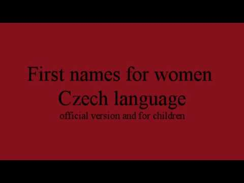 Czech First Names For Women