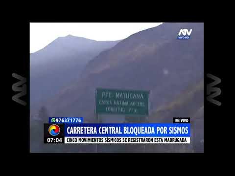 Tamboraque: Kilómetro 90.5 de la Carretera Central está bloqueado