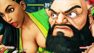 Street Fighter V Laura Gameplay Direct Feed 3 matches PT-BR 1080p 60 FPS