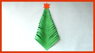 DIY How to make Paper Christmas Tree at Home | Simple & Easy Paper Crafts for Kids & Beginners