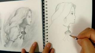スタジオジブリの作品である思い出のマーニーをなんとなく描いてみました I tried to draw somehow the Marnie of When Marnie Was There is the work of Studio Ghibli...