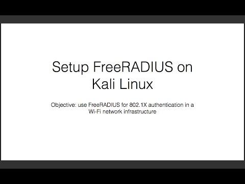 Setup FreeRADIUS on Kali Linux for 802.1X Authentication