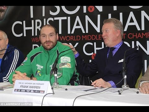FRANK WARREN SET TO ANNOUNCE TYSON FURY SIGNING, LICENCE & FIGHT DATE 10am!!