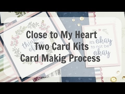 Card Making Process / 2 Kits / 4 Cards / CTMH