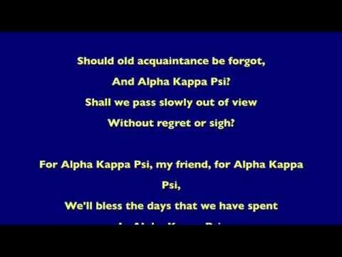 Alpha Kappa Psi Anthem (lyrics)