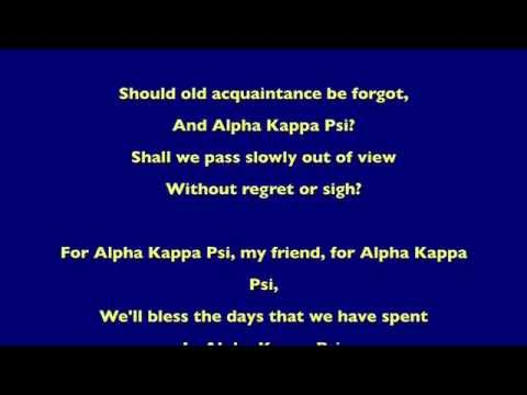 Alpha Kappa Psi Anthem (lyrics)