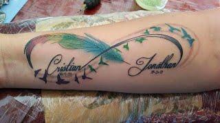 !!!Beautiful!!! Infinity symbol tattoo timelapse  Tatuaje de símbolo infinito