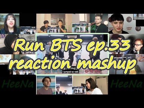 [BTS] Run BTS 달려라 방탄 ep.33|reaction mashup