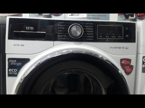 how to use IFB 7.5kg fully autimatic front load washing machine full demo model ELITE WX