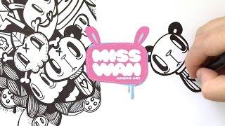 How to draw/doodle - Kawaii Panda Popsicle Tutorial