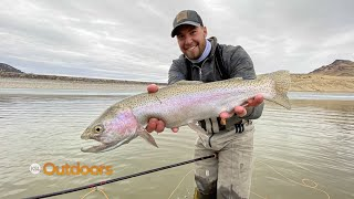 Ice Off and Big Rainbows at Minersville Reservoir