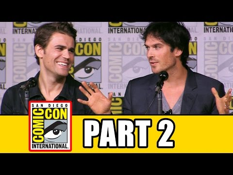 THE VAMPIRE DIARIES Season 8 Comic Con Panel Part 2  Ian Somerhalder, Kat Graham, Paul Wesley